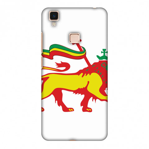 Lion Of Judah - Ethiopia Flag Slim Hard Shell Case For Vivo V3 Max