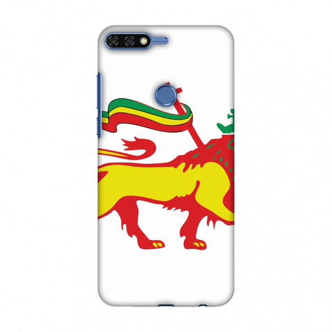 Lion Of Judah - Ethiopia Flag Slim Hard Shell Case For Huawei Honor 7C