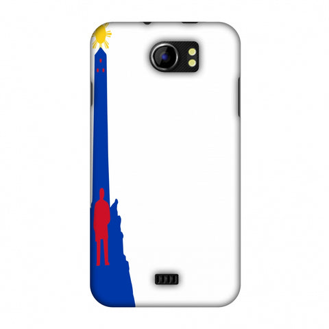 Luneta - Philippines Flag Slim Hard Shell Case For Micromax Canvas 2 A110
