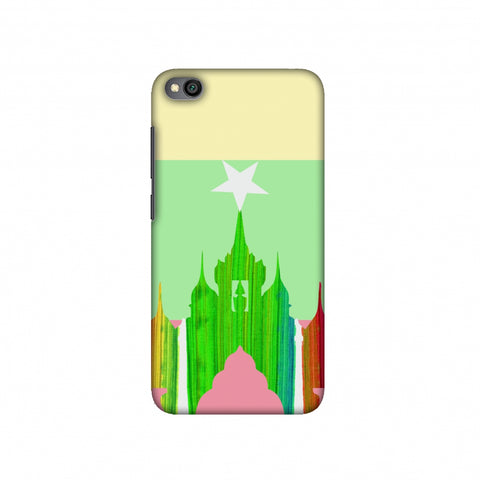 Ananda temple- Myanmar flag Slim Hard Shell Case For Redmi Go