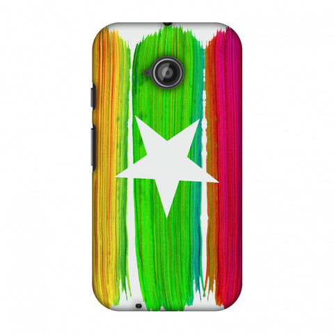 Myanmar Flag - Brush Strokes Slim Hard Shell Case For Motorola Moto E 2nd Gen