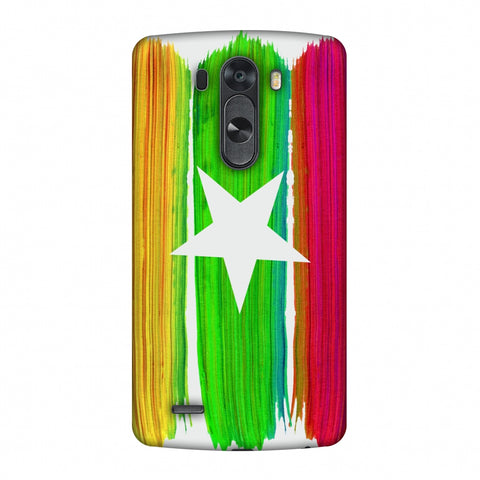 Myanmar Flag - Brush Strokes Slim Hard Shell Case For LG G4