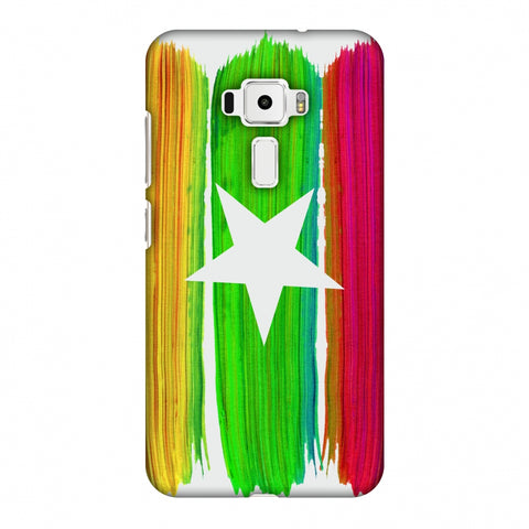 Myanmar Flag - Brush Strokes Slim Hard Shell Case For Asus Zenfone 3 ZE520KL