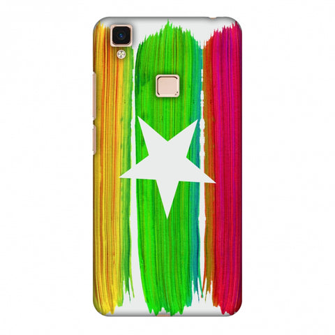 Myanmar Flag - Brush Strokes Slim Hard Shell Case For Vivo V3 Max