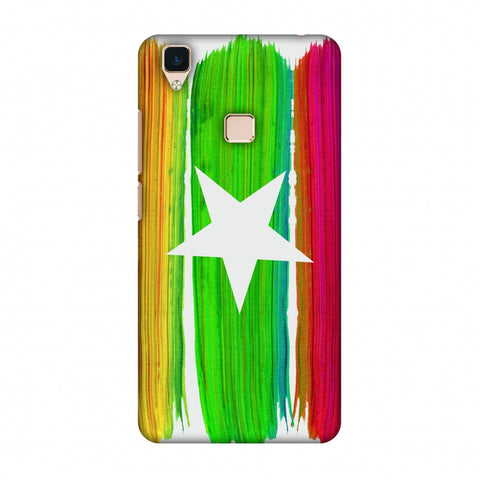 Myanmar Flag - Brush Strokes Slim Hard Shell Case For Vivo V3