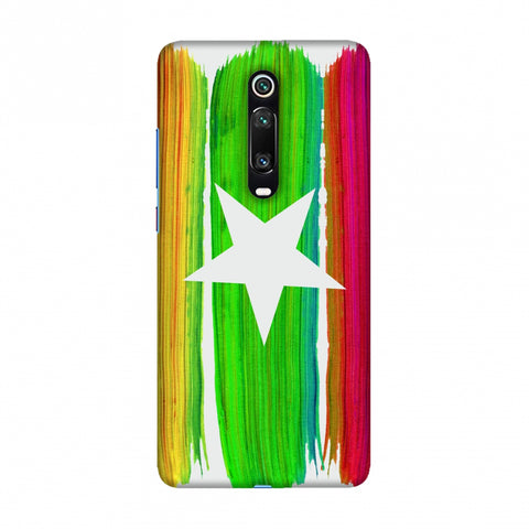 Myanmar flag- Brush strokes Slim Hard Shell Case For Redmi K20/K20 Pro