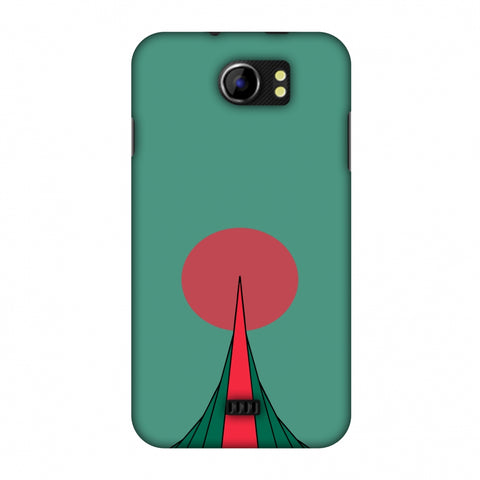 National Martyrs Memorial - Bangladesh Flag Slim Hard Shell Case For Micromax Canvas 2 A110