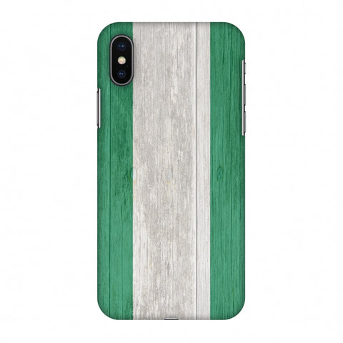 Nigeria Flag - Textures Slim Hard Shell Case For Apple iPhone X