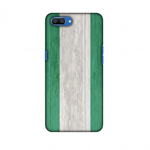 Nigeria Flag - Textures Slim Hard Shell Case For Oppo Realme C1