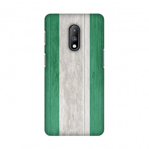 Nigeria flag- Textures Slim Hard Shell Case For OnePlus 7