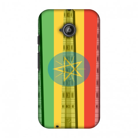 Obelix Of Axum - Ethiopia Flag Slim Hard Shell Case For Motorola Moto E 2nd Gen