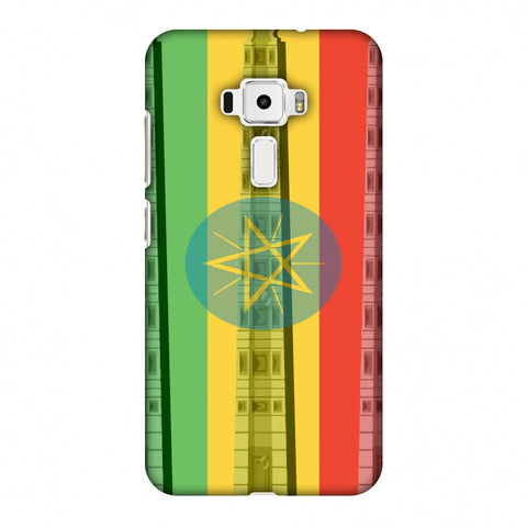 Obelix Of Axum - Ethiopia Flag Slim Hard Shell Case For Asus Zenfone 3 ZE520KL