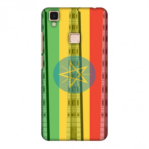 Obelix Of Axum - Ethiopia Flag Slim Hard Shell Case For Vivo V3 Max