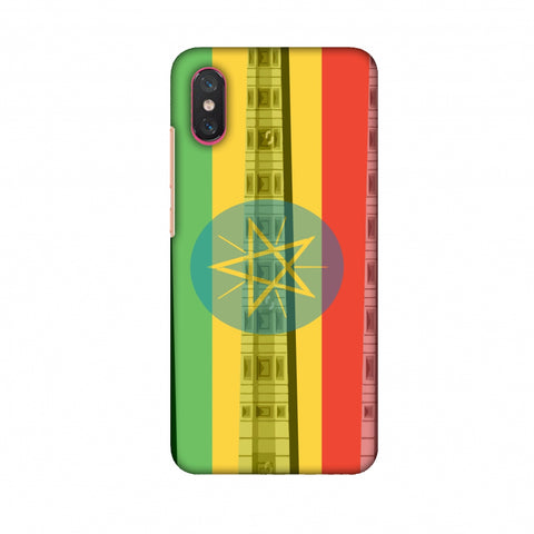Obelix Of Axum - Ethiopia Flag Slim Hard Shell Case For Xiaomi Mi 8 Pro