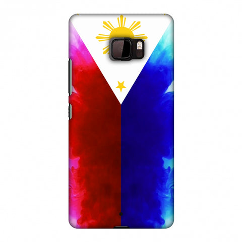 Philippines Flag - Smoke Shades Slim Hard Shell Case For HTC U Ultra