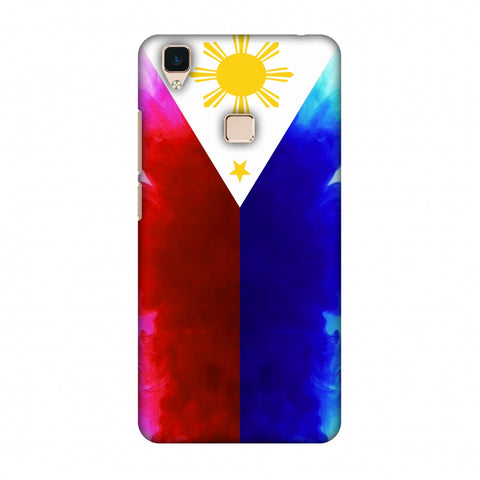 Philippines Flag - Smoke Shades Slim Hard Shell Case For Vivo V3