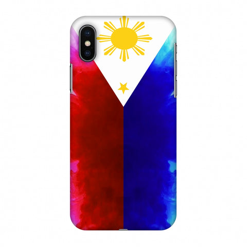 Philippines Flag - Smoke Shades Slim Hard Shell Case For Apple iPhone X