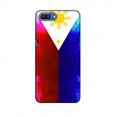 Philippines Flag - Smoke Shades Slim Hard Shell Case For Oppo Realme C1