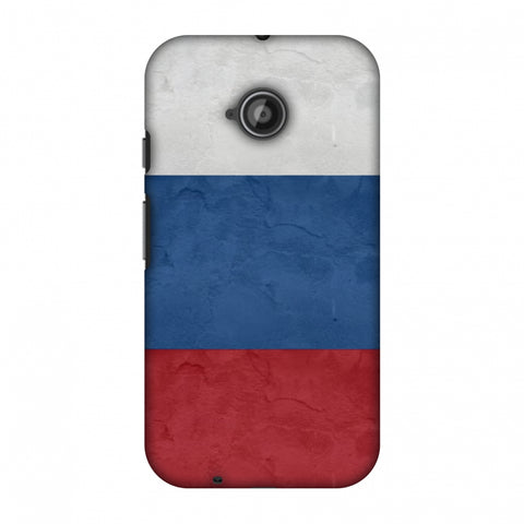 Russia Flag - Textures Slim Hard Shell Case For Motorola Moto E 2nd Gen