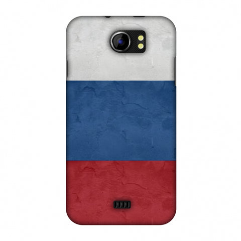 Russia Flag - Textures Slim Hard Shell Case For Micromax Canvas 2 A110