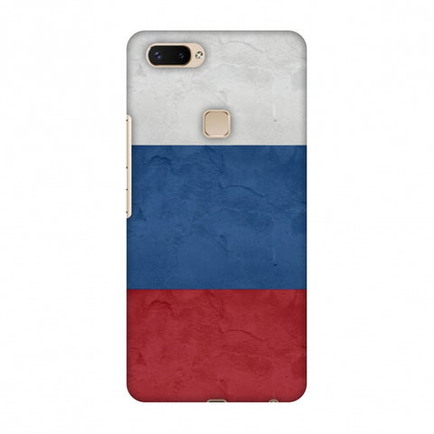 Russia Flag - Textures Slim Hard Shell Case For Vivo X20 Plus