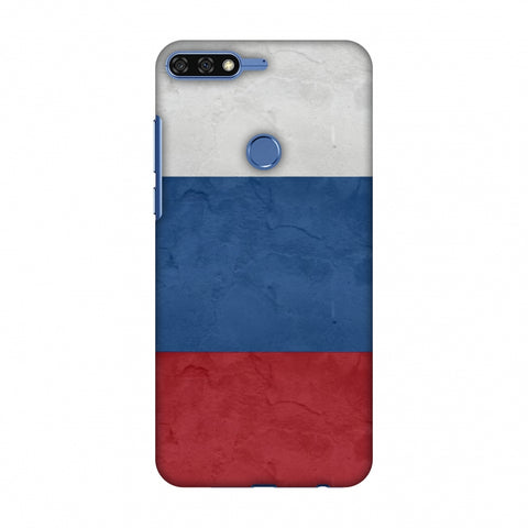 Russia Flag - Textures Slim Hard Shell Case For Huawei Honor 7C