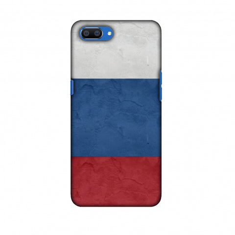Russia Flag - Textures Slim Hard Shell Case For Oppo Realme C1