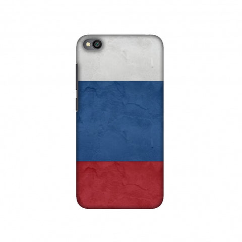 Russia flag- Textures Slim Hard Shell Case For Redmi Go