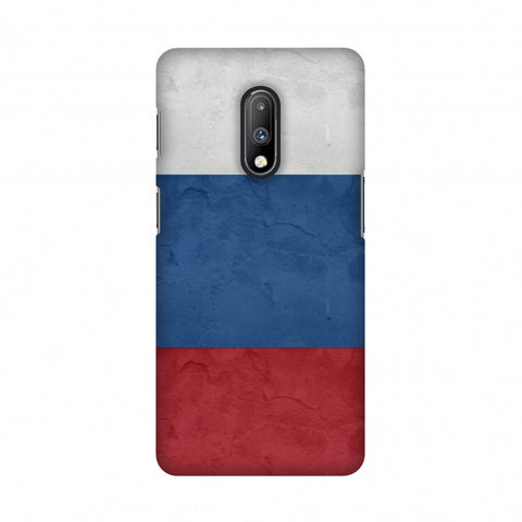 Russia flag- Textures Slim Hard Shell Case For OnePlus 7