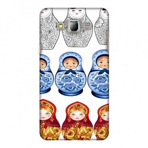 Matryoshka Dolls - Russia Flag Slim Hard Shell Case For Samsung Galaxy On 8