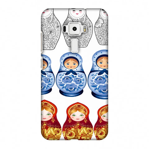 Matryoshka Dolls - Russia Flag Slim Hard Shell Case For Asus Zenfone 3 ZE520KL