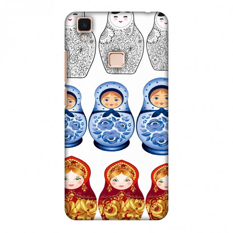 Matryoshka Dolls - Russia Flag Slim Hard Shell Case For Vivo V3 Max