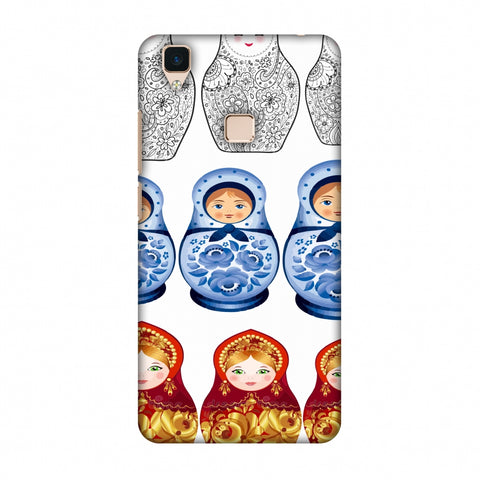 Matryoshka Dolls - Russia Flag Slim Hard Shell Case For Vivo V3