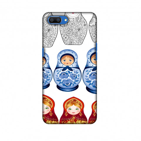 Matryoshka Dolls - Russia Flag Slim Hard Shell Case For Oppo Realme C1