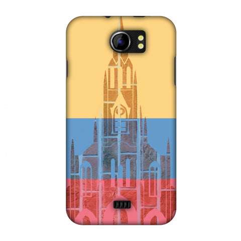 Santiago De Cali - Colombia Flag Slim Hard Shell Case For Micromax Canvas 2 A110
