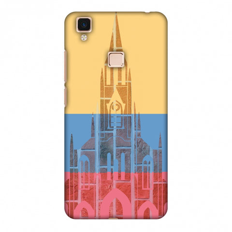 Santiago De Cali - Colombia Flag Slim Hard Shell Case For Vivo V3 Max