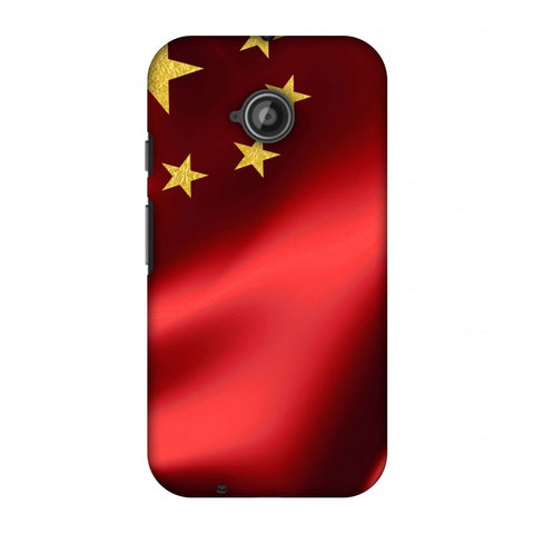 China Flag - Silk LAnd Slim Hard Shell Case For Motorola Moto E 2nd Gen