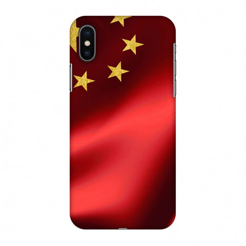 China Flag - Silk LAnd Slim Hard Shell Case For Apple iPhone X