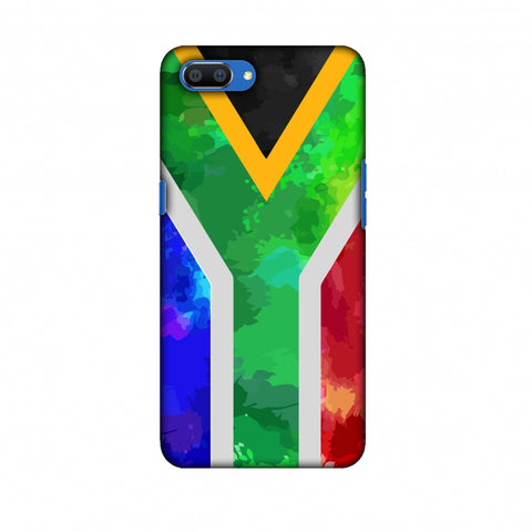 South Africa Flag - Textures Slim Hard Shell Case For Oppo Realme C1