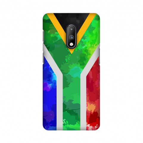 South Africa flag- Textures Slim Hard Shell Case For OnePlus 7