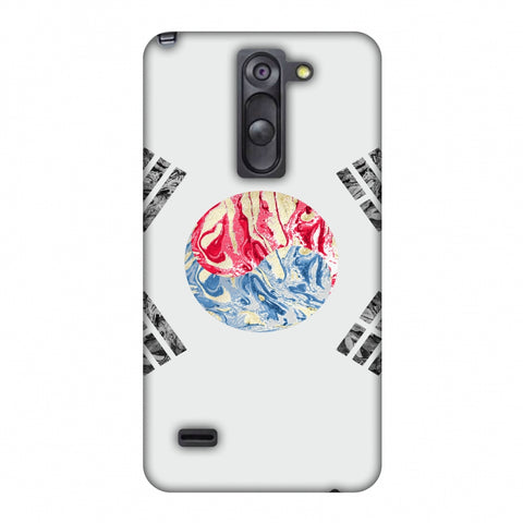 South Korea Flag - Textures Slim Hard Shell Case For LG G3 Stylus D690