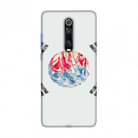 South Korea flag- Textures Slim Hard Shell Case For Redmi K20/K20 Pro