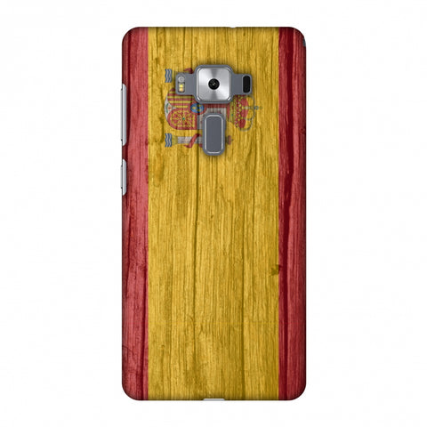 Spain Flag - Wood Textures Slim Hard Shell Case For Asus Zenfone 3 Deluxe ZS570KL