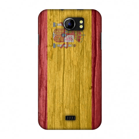 Spain Flag - Wood Textures Slim Hard Shell Case For Micromax Canvas 2 A110