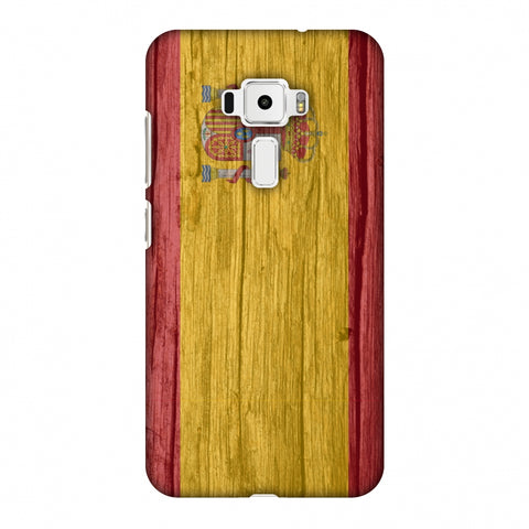 Spain Flag - Wood Textures Slim Hard Shell Case For Asus Zenfone 3 ZE520KL