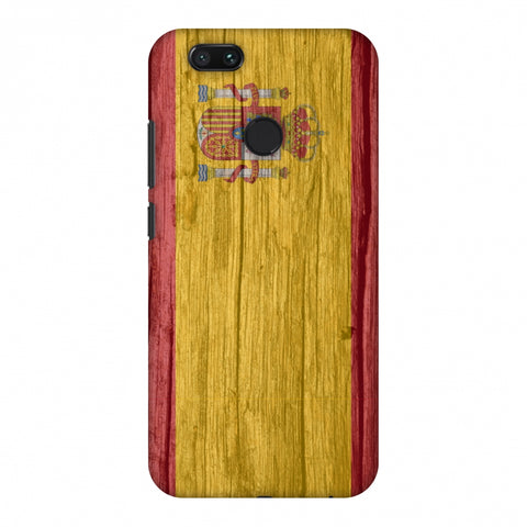 Spain Flag - Wood Textures Slim Hard Shell Case For Xiaomi MI A1-5X