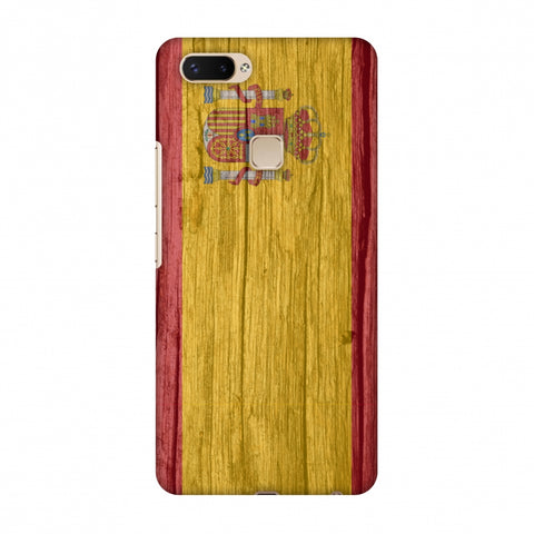 Spain Flag - Wood Textures Slim Hard Shell Case For Vivo X20 Plus