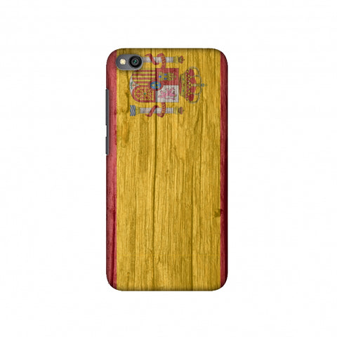Spain flag- Wood textures Slim Hard Shell Case For Redmi Go