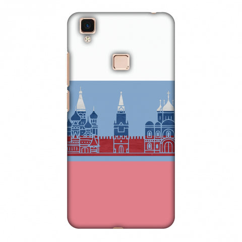 St.Petersburg - Russia Flag Slim Hard Shell Case For Vivo V3 Max