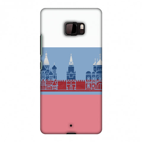 St.Petersburg - Russia Flag Slim Hard Shell Case For HTC U Ultra